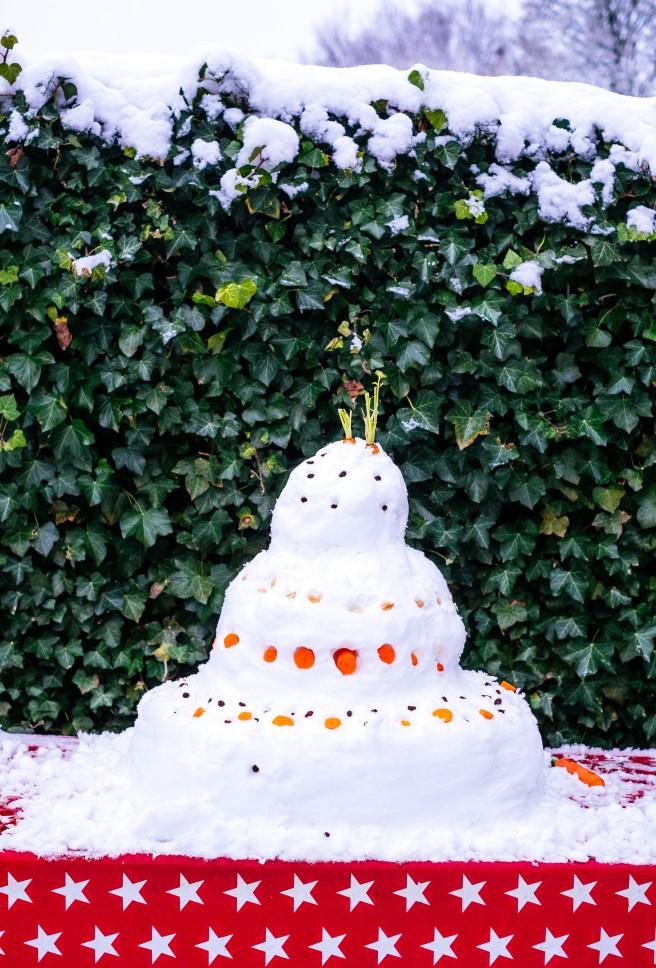 Taart van sneeuw