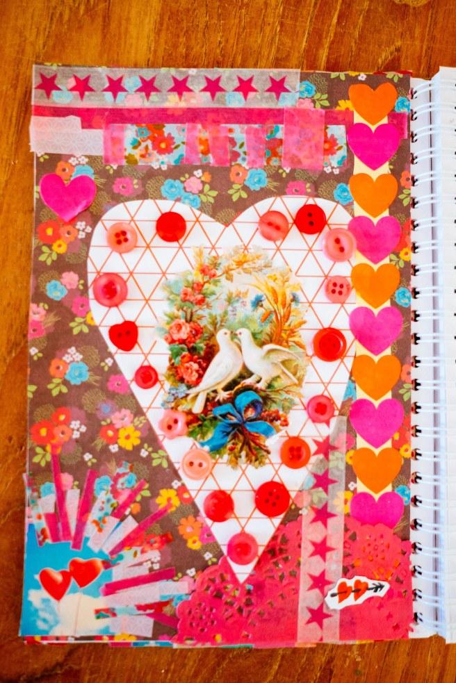 Art journal valentijnsdag