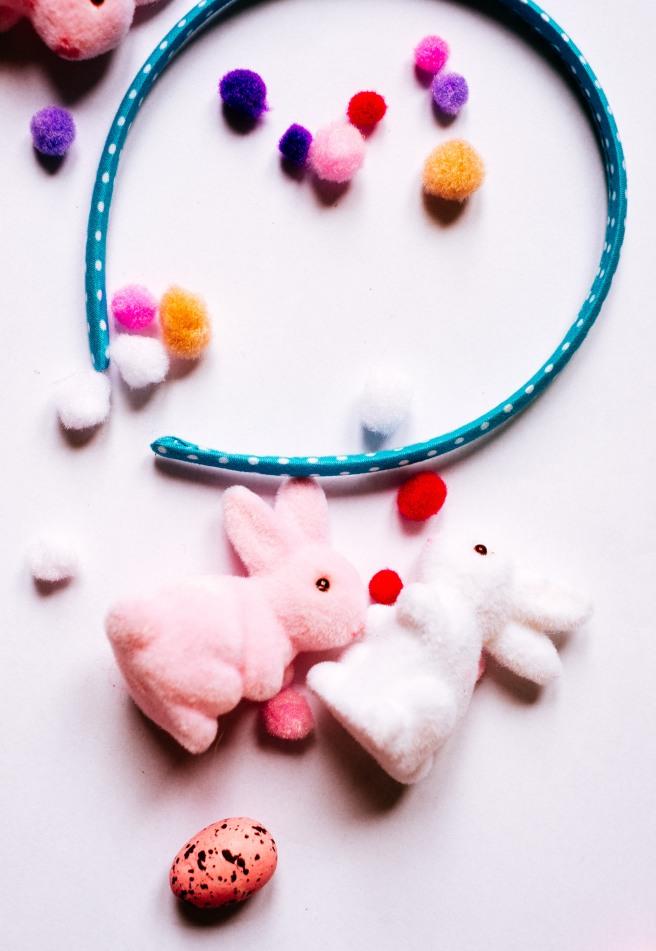 Pompoms en konijnen