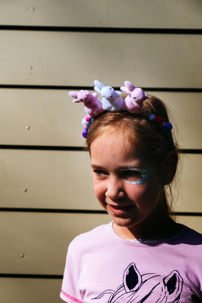 Haarband met konijntjes