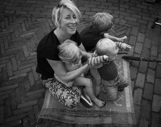 Foto met gezin