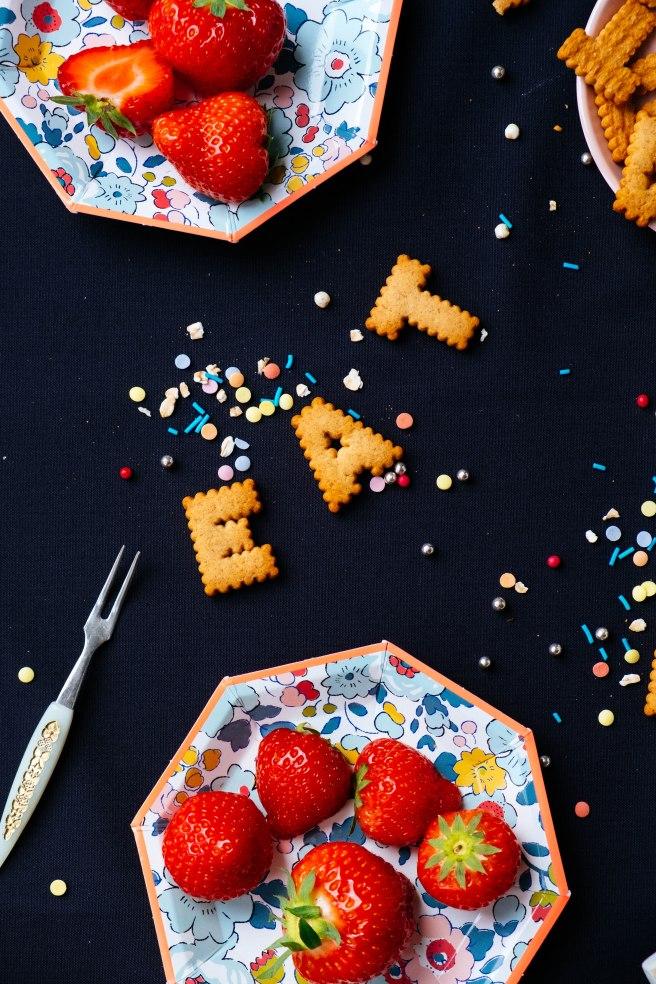 koekjes in letter vorm