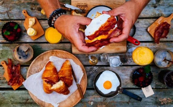 ontbijt tafel